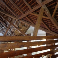 Original Hand Hewn Beams and Cedar Shake Roof